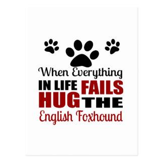 Hug The English Foxhound Dog Postcard