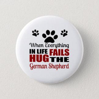 Hug The German Shepherd Dog 2 Inch Round Button