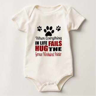 Hug The German Wirehaired Pointer Dog Baby Bodysuit