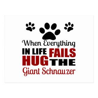 Hug The Giant Schnauzer Dog Postcard