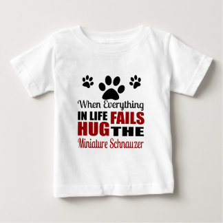 Hug The Miniature Schnauzer Dog Baby T-Shirt