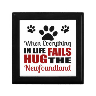 Hug The Newfoundland Dog Trinket Box