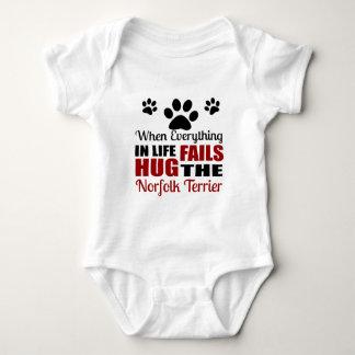 Hug The Norfolk Terrier Dog Baby Bodysuit
