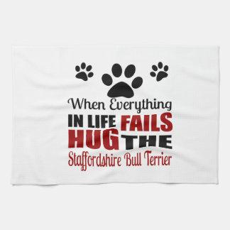 Hug The Staffordshire Bull Terrier Dog Hand Towels
