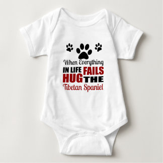 Hug The Tibetan Spaniel Dog Baby Bodysuit