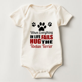 Hug The Tibetan Terrier Dog Baby Bodysuit