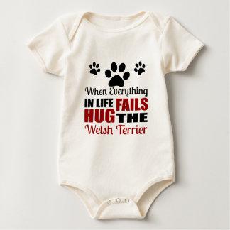 Hug The Welsh Terrier Dog Baby Bodysuit