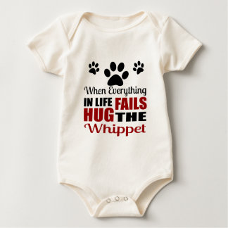 Hug The Whippet Dog Baby Bodysuit