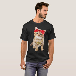 Hug Thug Gangster Life Gold Chain Cat Shirt Gangst