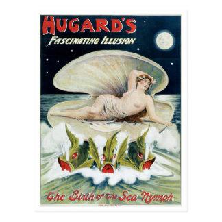 Hugard's ~ Fascinating Illusion Vintage Magic Act Postcard