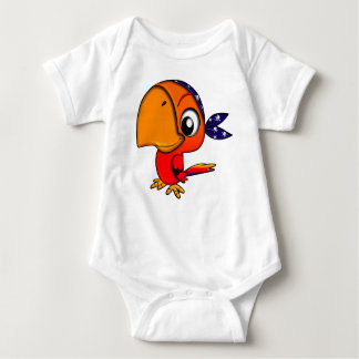 Huge beak cartoon bird baby bodysuit