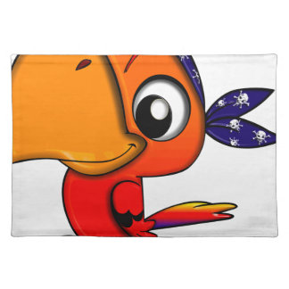 Huge beak cartoon bird placemat