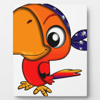 Huge beak cartoon bird plaque
