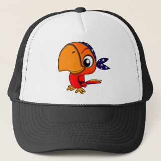 Huge beak cartoon bird trucker hat