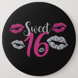HUGE Birthday Girl Sweet 16 6 Inch Round Button