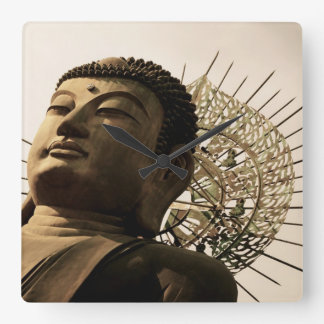 Huge Buddha Square Wall Clock