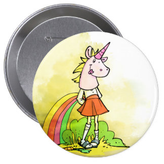 huge but cute unicorn girl button