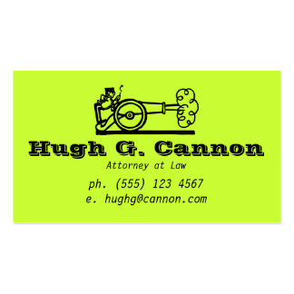 Huge Cannon Business Card