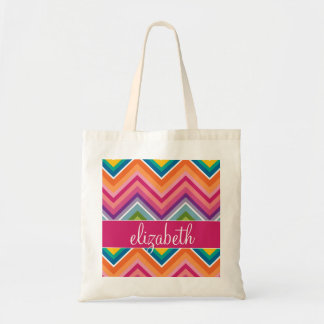 Huge Colorful Chevron Pattern with Name Bags