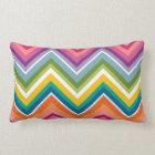 Huge Colourful Chevron Pattern Lumbar Pillow