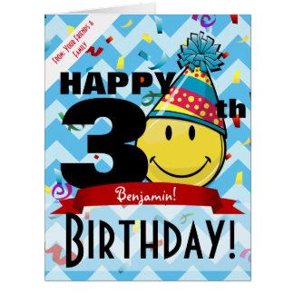 Huge Decade Marker Happy Birthday Smiling Big Card