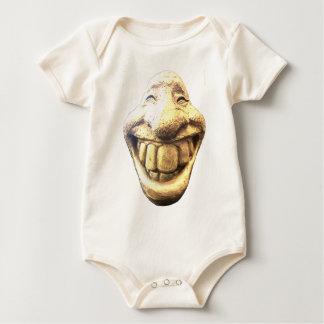 Huge Happy Face Baby Bodysuit