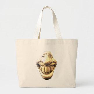 Huge Happy Face Large Tote Bag