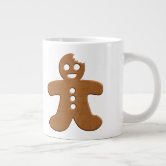 Huge Happy Gingerbread Man Mug