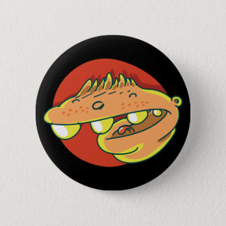 huge head laughing kid funny cartoon 2 inch round button