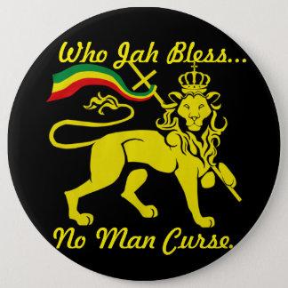 Huge Jah Rastafari Button: 6 Inch Round Button