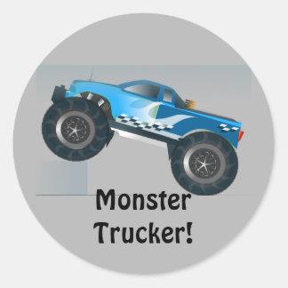 Huge Monster Truck Speedway-lover Design Classic Round Sticker