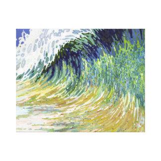 Huge Ocean Wave Surf Canvas Beach Art by Juul Gallery Wrap Canvas