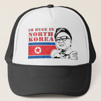 huge only in north korea - kim jong il trucker hat
