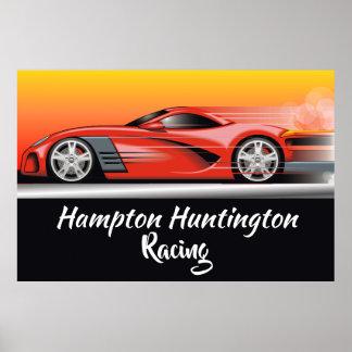 Huge Race Car Poster You Customize
