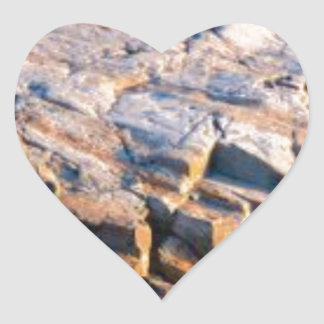 huge rock cube heart sticker
