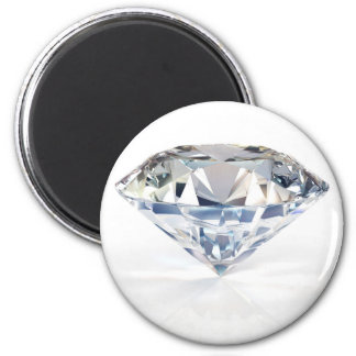Huge Sparkly Diamond Customize w/ Your Text 2 Inch Round Magnet
