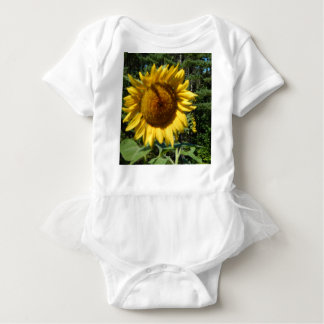 Huge Sunflower Baby Bodysuit