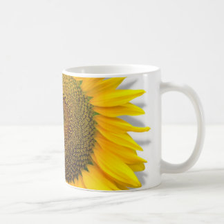 Huge Sunflower, heart inside /Mug size 11oz Coffee Mug