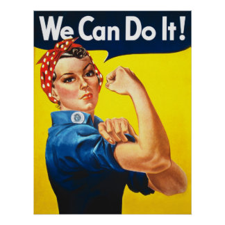 """Huge """"We Can Do It"""" Poster"""
