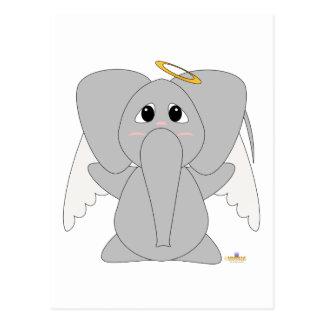 Huggable Angel Elephant Postcard