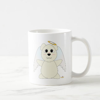 Huggable Angel Polar Bear Classic White Coffee Mug