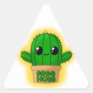 Huggable Cactus Triangle Sticker