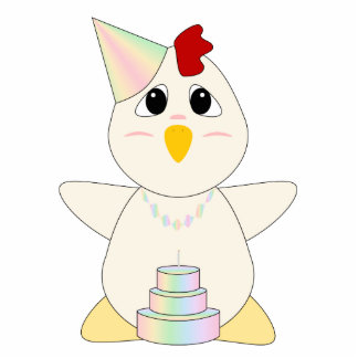 Huggable Chicken Birthday Pastels Acrylic Cut Out