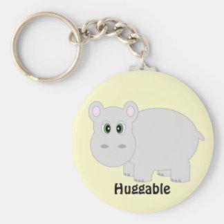 Huggable Hippo Keychain