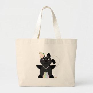 Huggable Pastel Birthday Skunk Large Tote Bag