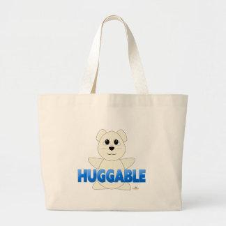 Huggable Polar Bear Blue Huggable Canvas Bag