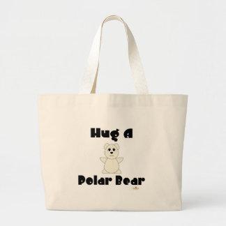 Huggable Polar Bear Hug A Polar Bear Jumbo Tote Bag