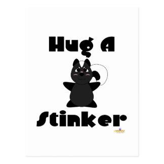 Huggable Skunk Hug A Stinker Postcard