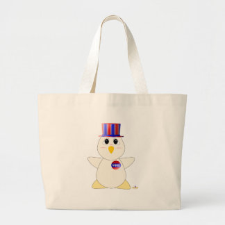 Huggable Voting White Chicken Large Tote Bag