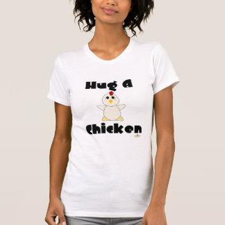 Huggable White Chicken Hug A Chicken T-Shirt